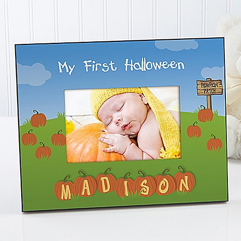 my 1st halloween 4 inch x 6 inch picture frame