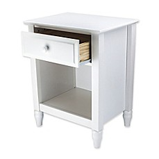image of Adeptus Cottage 1-Drawer Nightstand in White