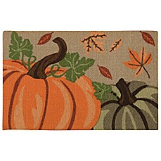 image of Nourison Pumpkins 1-Foot 8-Inch x 2-Foot 6-Inch Multicolor Accent Rug