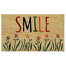 image of Home & More Smile 17-Inch x 29-Inch Multicolor Door Mat