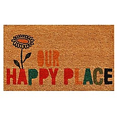 image of Home & More Our Happy Place 17-Inch x 29-Inch Multicolor Door Mat