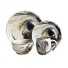 image of American Atelier 16-Piece Amelie Dinnerware Set in Tortoise Grey