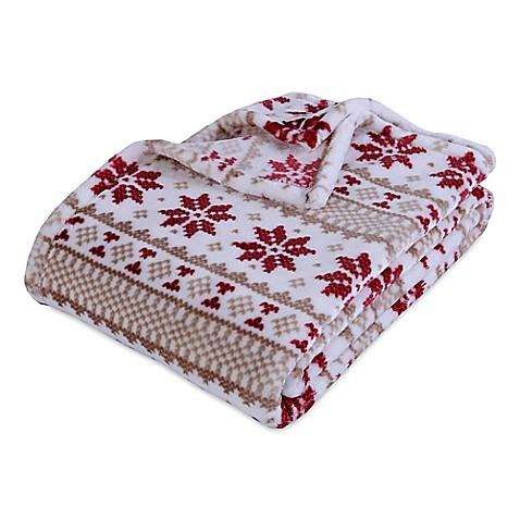Berkshire Blanket VelvetLoft® Norwegian Stripe Throw Blanket - Bed ...