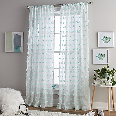 Pom Rod Pocket Window Curtain Panel