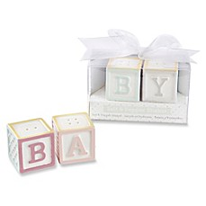 image of Kate Aspen 2-Piece Block Salt and Pepper Shakers (Set of 12)