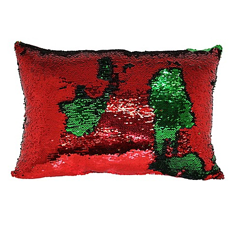 Buy Mermaid Sequin Throw Pillow in Red/Green from Bed Bath & Beyond