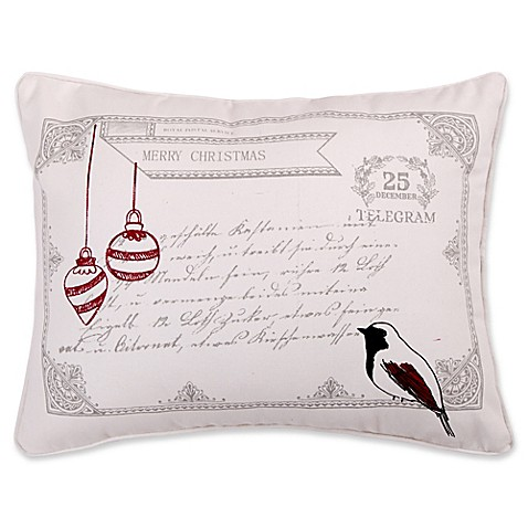 Levtex Home Miracle Birds Postcard Throw Pillow in White - Bed Bath & Beyond