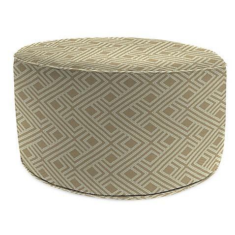 Buy outdoor round pouf ottoman in sunbrella integrated for Ulani outdoor round pouf ottoman