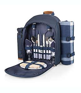 Mochila para picnic Picnic Time® para 2 personas en azul/café