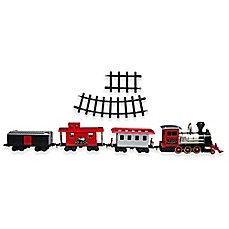image of FAO Schwarz 34-Piece Battery Operated Lights and Sounds Toy Train Set