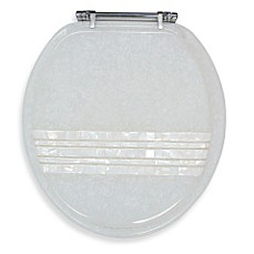 image of Ginsey Mother of Pearl Banded Lid Standard Resin Toilet Seat