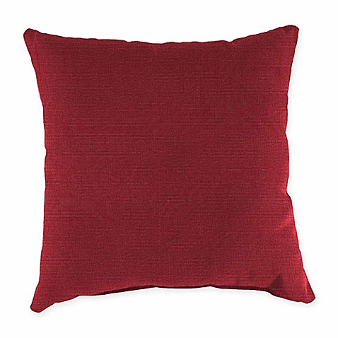 Pacific Blue Throw Pillows : Buy 20-Inch Square Outdoor Throw Pillow in Sunbrella Pacific Blue Aynova Crimson from Bed Bath ...