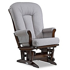 image of Dutailier® Sleigh Glider in Brown/Pebble Grey