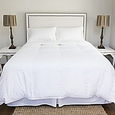 image of tracy porter jacquard woven down comforter in white - King Down Comforter