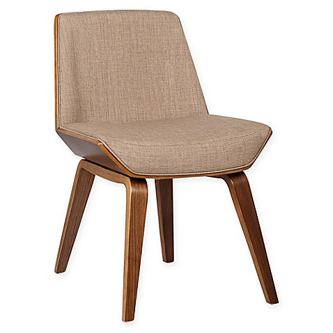 Armen Living Agi Wood Upholstered Dining Chair Bed Bath