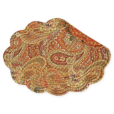 Buy Tangiers Reversible Round Quilted Cotton Placemats