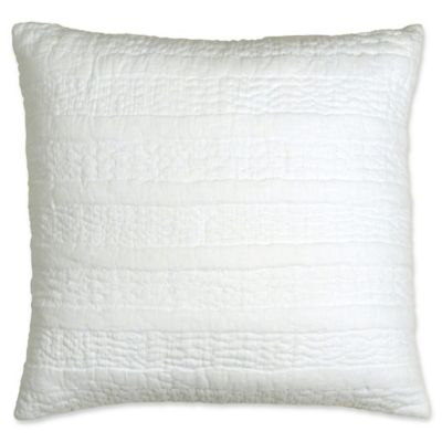 White Quilted Decorative Pillows : DKNYpure Comfy Quilted Voile Square Throw Pillow in White - Bed Bath & Beyond