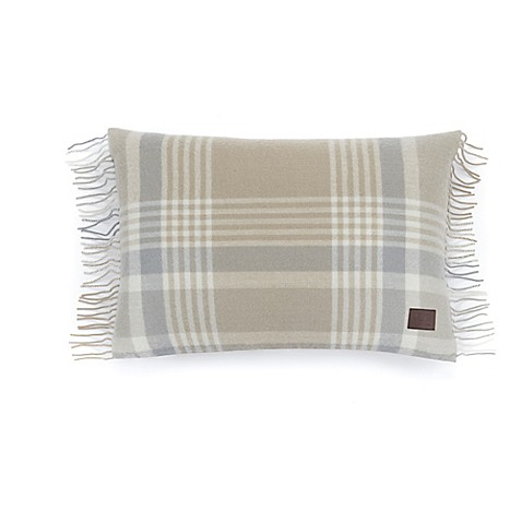 Buy Ugg 174 Charger Plaid Throw Pillow In Sesame From Bed