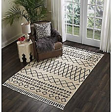 image of Nourison Moroccan Shag Machine Woven Rug in Cream