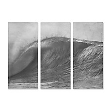 Image Of Wave Triptych 18 Inch X 40 Inch Wall Art