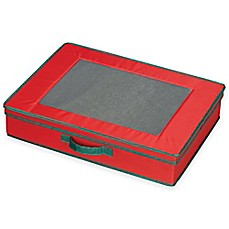 image of Household Essentials® Holiday Tabletop Storage Box in Red/Green