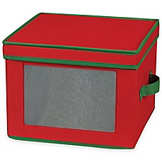 Image Of Household Essentials® Holiday China Dinner Plate Storage Box In  Red/Green