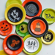 Fiesta® Halloween Luncheon and Appetizer Plate Collection & Halloween Dinnerware | Halloween Entertaining | Bed Bath u0026 Beyond