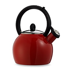 image of Copco Vienna Red Porcelain Enamel Tea Kettle