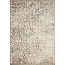 image of Nourison Graphic Illusions Machine Woven Area Rug in Ivory