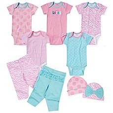 image of Gerber® 9-Piece Love Layette Set in Pink