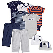 image of Gerber® Size 3-6M 9-Piece Sports Layette Set in Navy