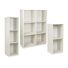 image of Way Basics Tool-Free Assembly Bookcase and Storage Shelf in White