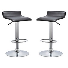 image of AirLift Bar Stools in Black (Set of 2)