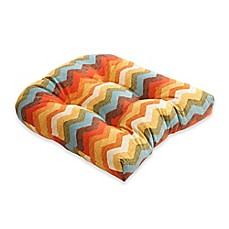 image of Pillow Perfect Panama Wave Multicolor Chair Pad