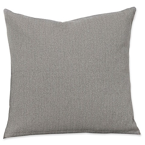 Grey Herringbone Throw Pillow : Buy SIScovers Revolution Plus Everlast Herringbone 20-Inch Square Throw Pillow in Grey from Bed ...