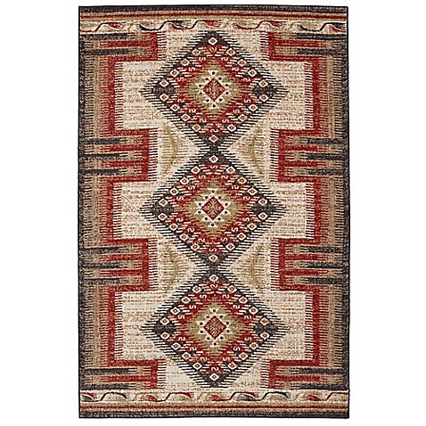 Mohawk Home Destinations Hulett 8-Foot x 11-Foot Area Rug in Gold