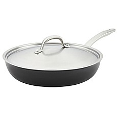 image of Circulon® Ultimum™ Forged Aluminum Nonstick 12-Inch Covered Deep Skillet in Black