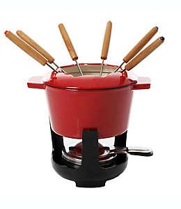 Set de fondue esmaltado en rojo, Artisanal Kitchen Supply® 13 piezas