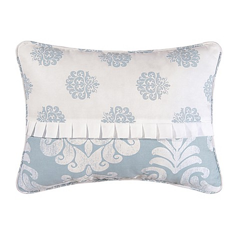 Providence Chambray Oblong Throw Pillow in Blue/White - Bed Bath & Beyond