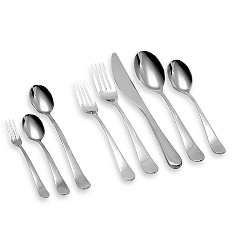 Gourmet settings windermere flatware collection bed bath beyond - Gourmet settings silverware ...