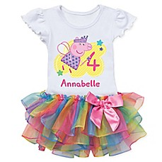 image of Peppa Pig™ Birthday Fairy Rainbow Tutu T-Shirt
