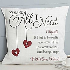image of You're All I Need Throw Pillow