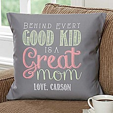 image of Loving Words To Her 18-Inch Square Throw Pillow