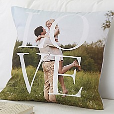 image of LOVE 18-Inch Square Throw Pillow