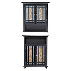 image of elegant home fashions wall cabinet in dark espresso