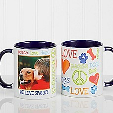 image of Peace, Love, Dogs Photo Coffee Mug