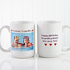 image of Photo Message 15 oz. Coffee Mug in White