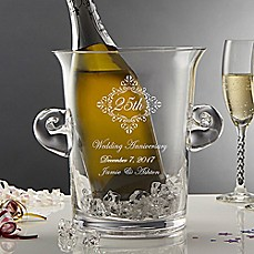 image of Anniversary Memento Engraved Crystal Chiller/Ice Bucket