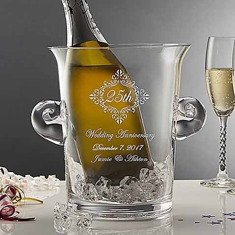 Buy Anniversary Memento Engraved Crystal Chiller Ice