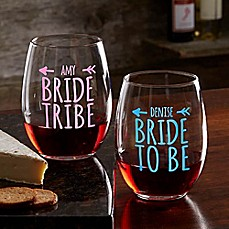 image of Bride Tribe Stemless Wine Glass